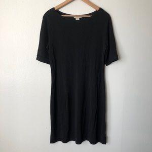 J. Jill Wherever Collection Black T-Shirt Dress